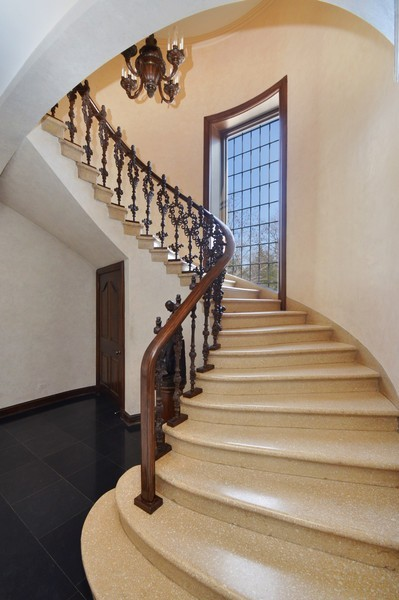 Real Estate Photography - 80 Locust Rd, Winnetka, IL, 60093 - Staircase