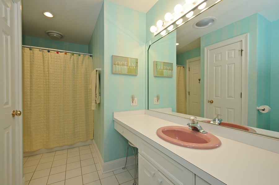 Real Estate Photography - 3830 N. Dwight Rd, Morris, IL, 60450 - Main Level Bathroom (access to 2nd bedroom)