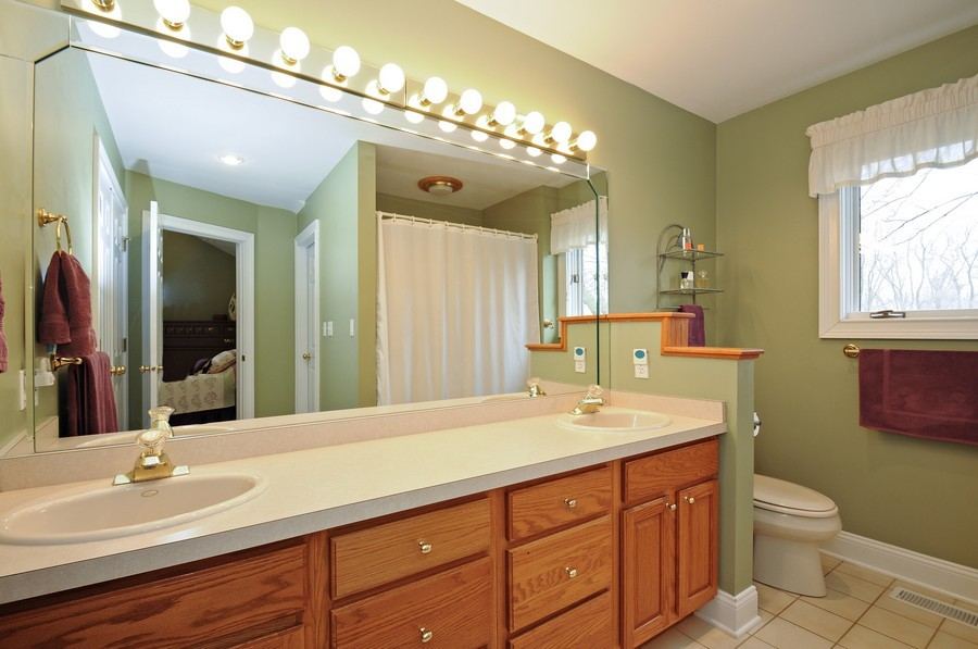 Real Estate Photography - 3830 N. Dwight Rd, Morris, IL, 60450 - Master Bathroom (first floor)