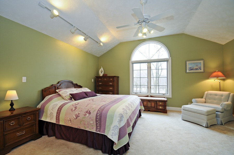 Real Estate Photography - 3830 N. Dwight Rd, Morris, IL, 60450 - Master Suite (first floor)