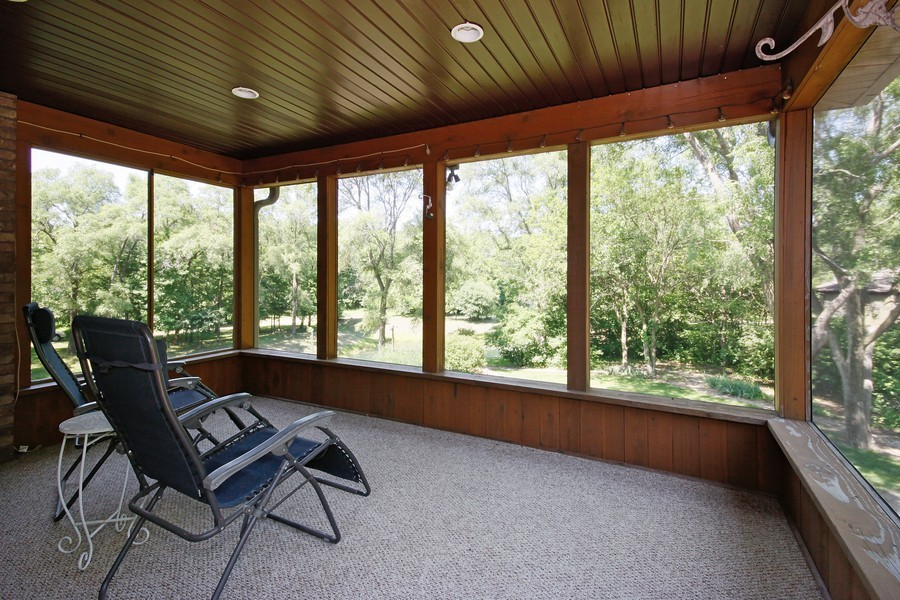 Real Estate Photography - 3830 N. Dwight Rd, Morris, IL, 60450 - Screened-In Porch off Kitchen