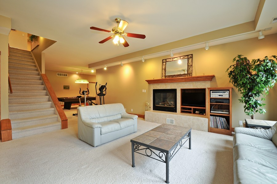 Real Estate Photography - 3830 N. Dwight Rd, Morris, IL, 60450 - Rec Room-View 1 (lower level)