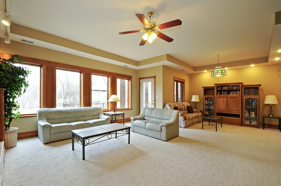 Real Estate Photography - 3830 N. Dwight Rd, Morris, IL, 60450 - Rec Room- View 2 (lower level)