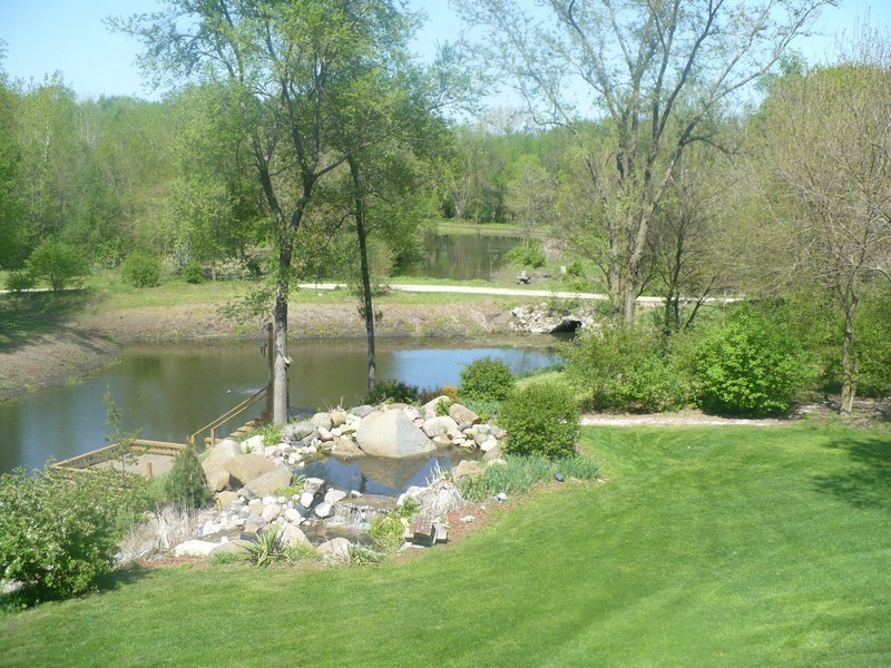 Real Estate Photography - 3830 N. Dwight Rd, Morris, IL, 60450 - View from Lower Level Patio