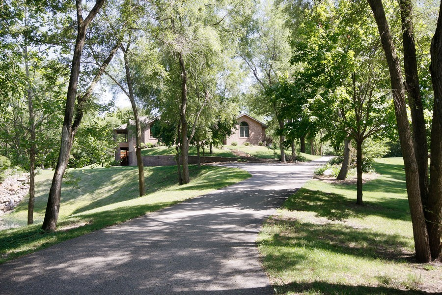 Real Estate Photography - 3830 N. Dwight Rd, Morris, IL, 60450 - Tree-lined Driveway