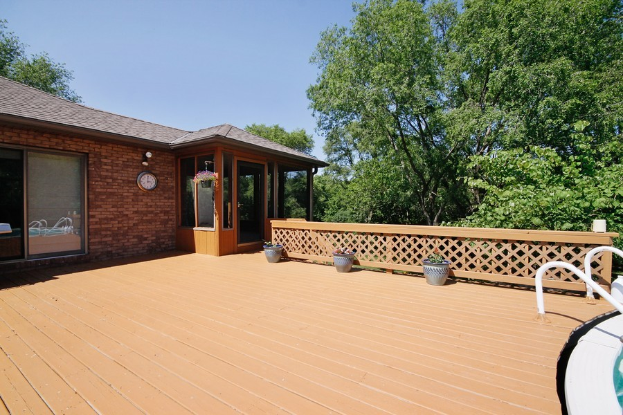 Real Estate Photography - 3830 N. Dwight Rd, Morris, IL, 60450 - Deck