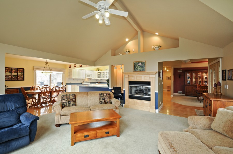 Real Estate Photography - 3830 N. Dwight Rd, Morris, IL, 60450 - Living Room- open floor plan view