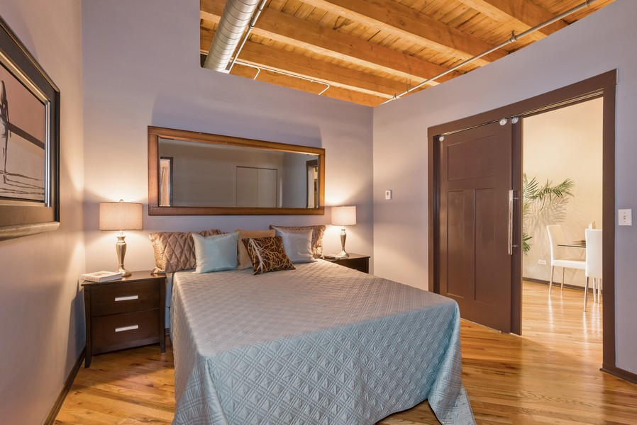 Real Estate Photography - 616 W Fulton, Unit 418, Chicago, IL, 60661 - Master Bedroom