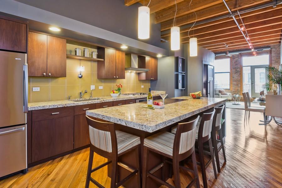 Real Estate Photography - 616 W Fulton, Unit 418, Chicago, IL, 60661 - Kitchen