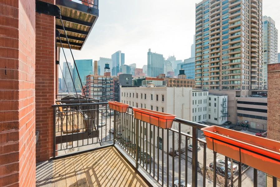 Real Estate Photography - 616 W Fulton, Unit 418, Chicago, IL, 60661 - Balcony