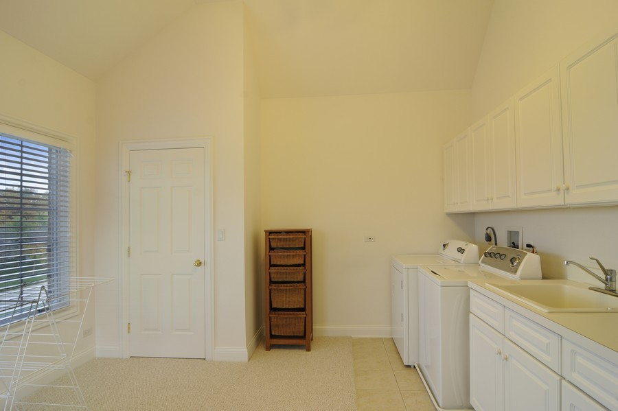 Real Estate Photography - 20843 W High Ridge Drive, Kildeer, IL, 60047 - Laundry Room