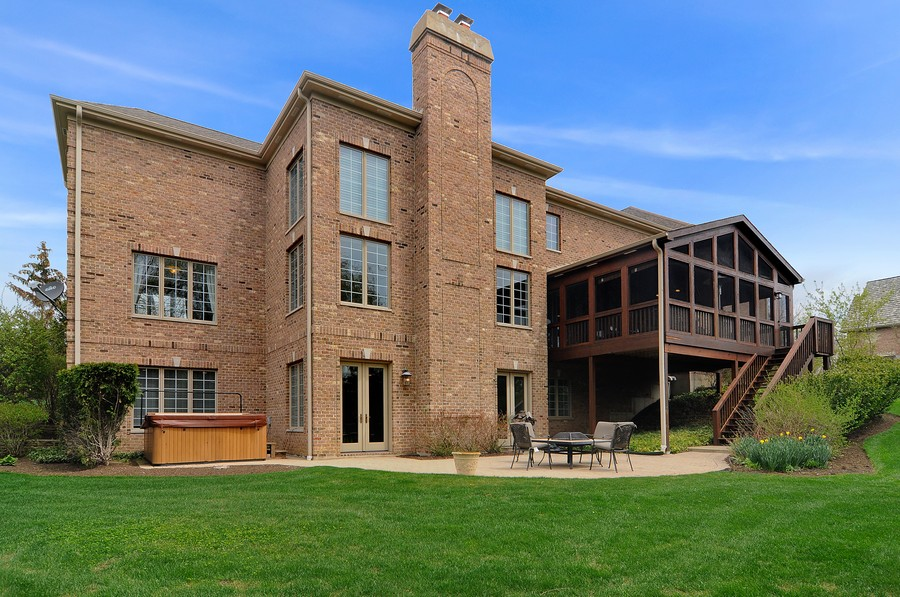 Real Estate Photography - 20843 W High Ridge Drive, Kildeer, IL, 60047 - Rear View