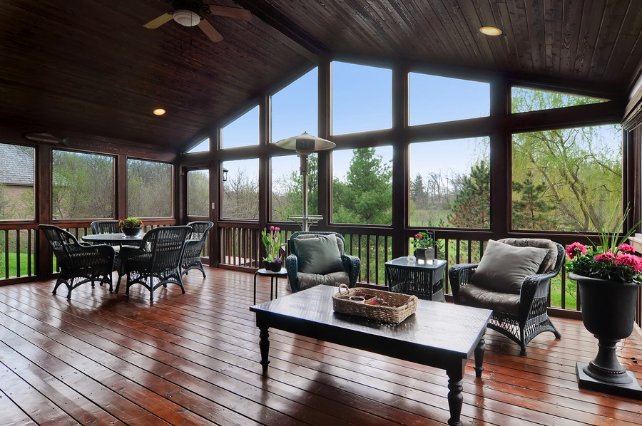 Real Estate Photography - 20843 W High Ridge Drive, Kildeer, IL, 60047 - Screen Porch