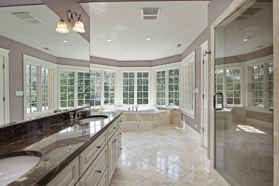 Real Estate Photography - 815 Happ Rd, Northfield, IL, 60093 - Master Bathroom