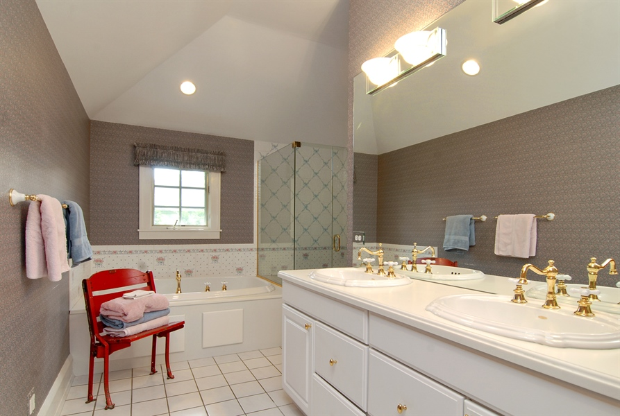 Real Estate Photography - 287 Cedar Ave., Highland Park, IL, 60035 - Master Bathroom