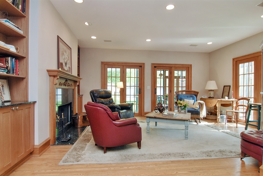 Real Estate Photography - 287 Cedar Ave., Highland Park, IL, 60035 - Family Room