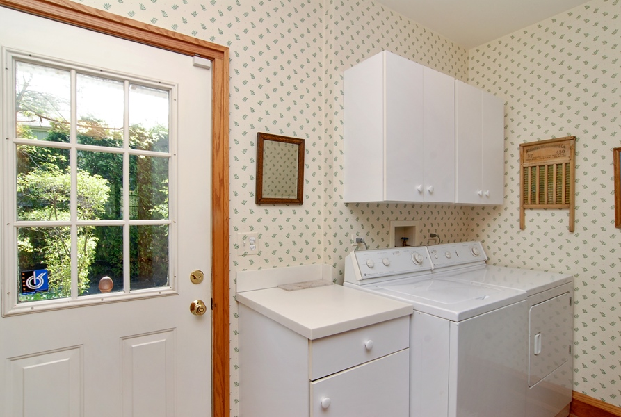 Real Estate Photography - 287 Cedar Ave., Highland Park, IL, 60035 - Laundry Room