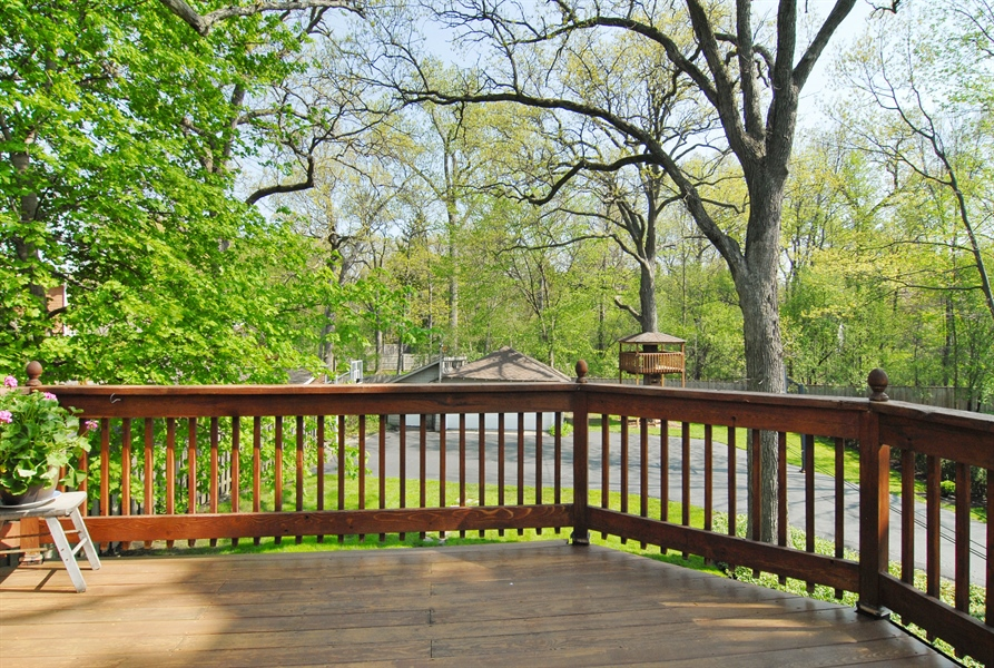Real Estate Photography - 287 Cedar Ave., Highland Park, IL, 60035 - Deck