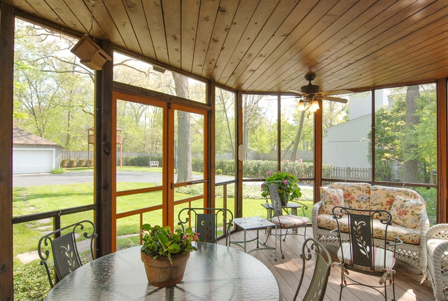Real Estate Photography - 287 Cedar Ave., Highland Park, IL, 60035 - Sun Room