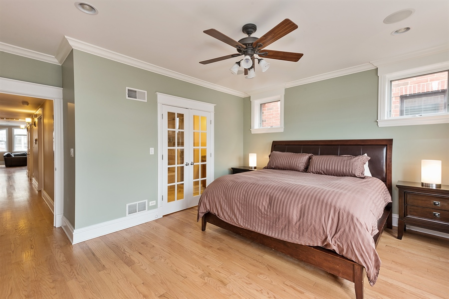 Real Estate Photography - 2708 N Lehmann Ct, Unit 4S, Chicago, IL, 60614 - Master Bedroom
