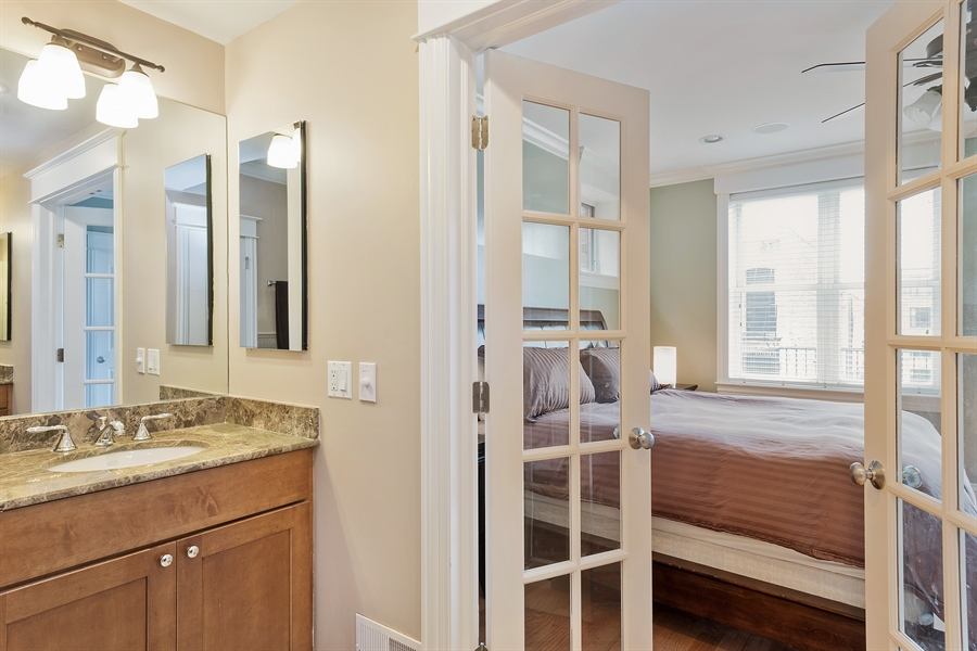 Real Estate Photography - 2708 N Lehmann Ct, Unit 4S, Chicago, IL, 60614 - Master Bathroom