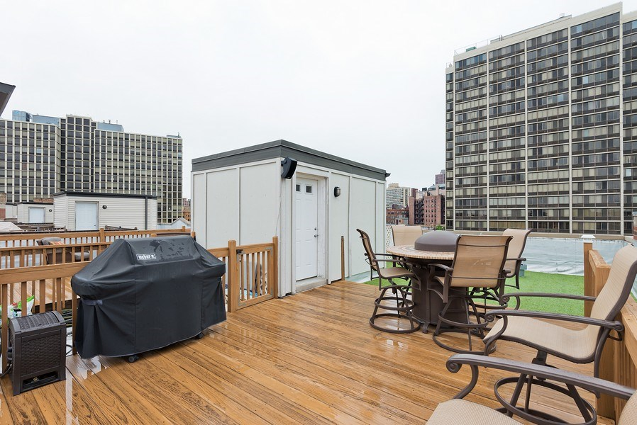 Real Estate Photography - 2708 N Lehmann Ct, Unit 4S, Chicago, IL, 60614 - Deck