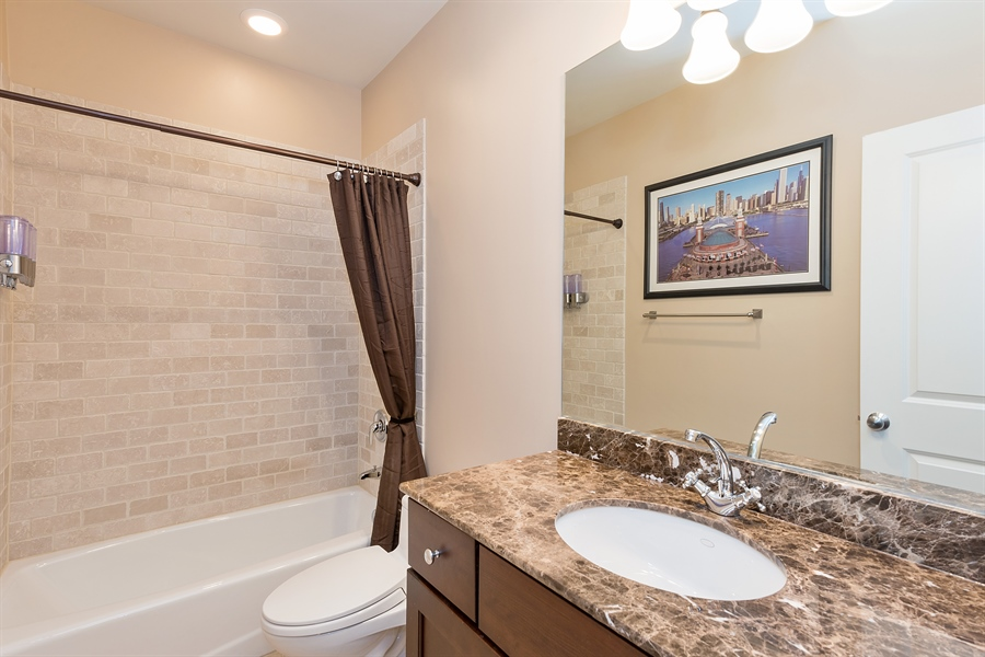Real Estate Photography - 2708 N Lehmann Ct, Unit 4S, Chicago, IL, 60614 - 2nd Bathroom