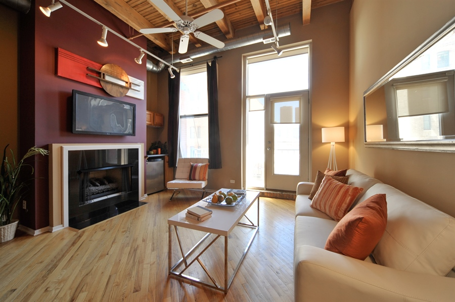 Real Estate Photography - 616 W Fulton, Unit 215, Chicago, IL, 60661 - Living Room