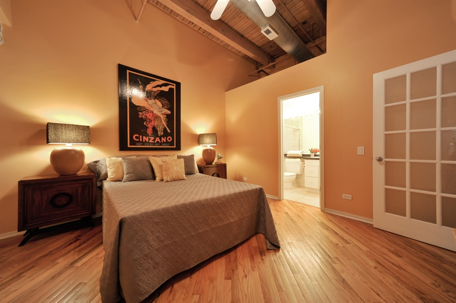 Real Estate Photography - 616 W Fulton, Unit 215, Chicago, IL, 60661 - Master Bedroom