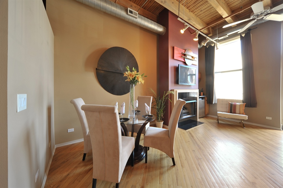 Real Estate Photography - 616 W Fulton, Unit 215, Chicago, IL, 60661 - Dining Room