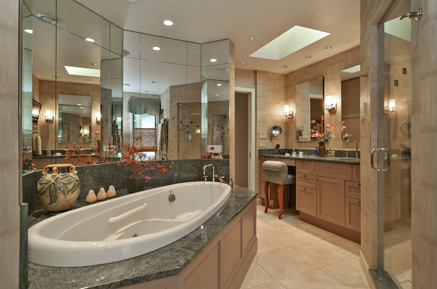 Real Estate Photography - 1060 Ridgewood, Highland Park, IL, 60035 - Master Bathroom