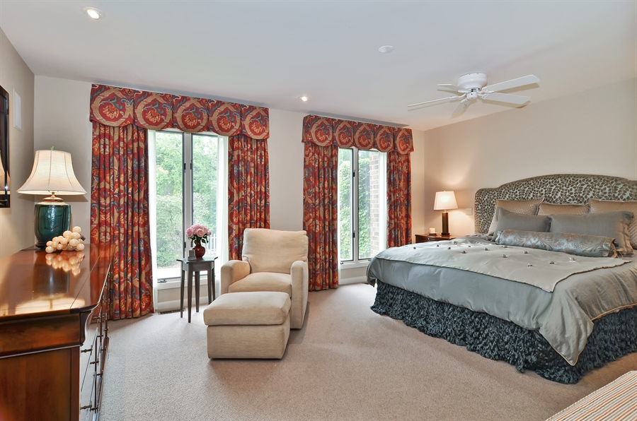 Real Estate Photography - 1060 Ridgewood, Highland Park, IL, 60035 - Master Bedroom