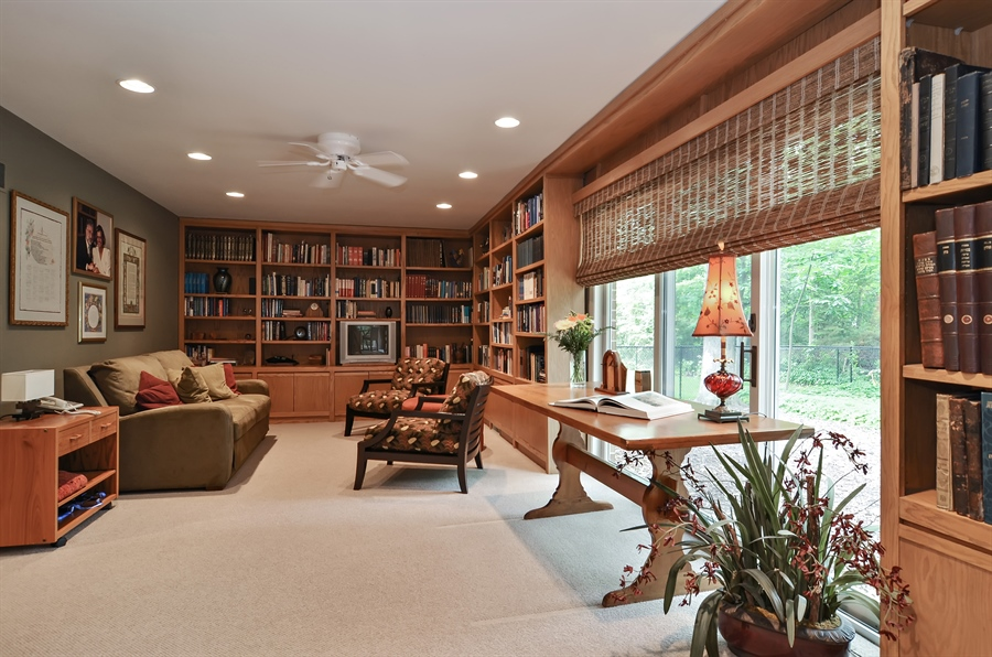 Real Estate Photography - 1060 Ridgewood, Highland Park, IL, 60035 - Family Room
