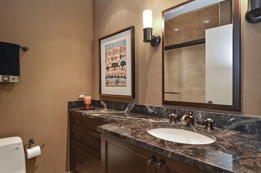 Real Estate Photography - 1060 Ridgewood, Highland Park, IL, 60035 - Bathroom
