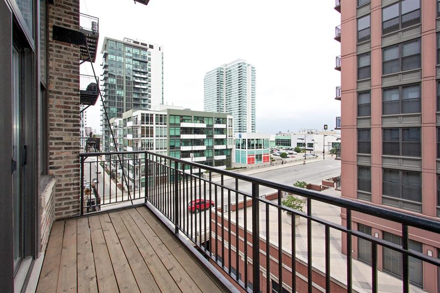 Real Estate Photography - 616 W Fulton Market, Unit 406, Chicago, IL, 60661 - Balcony