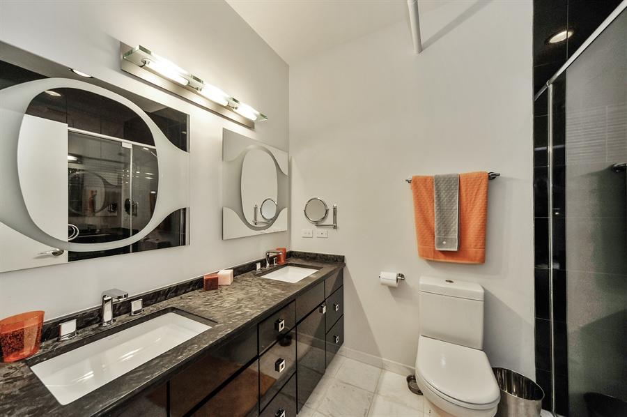 Real Estate Photography - 616 W Fulton, Unit 706, Chicago, IL, 60611 - Master Bathroom