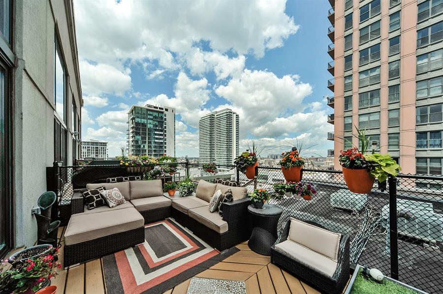 Real Estate Photography - 616 W Fulton, Unit 706, Chicago, IL, 60611 - Balcony