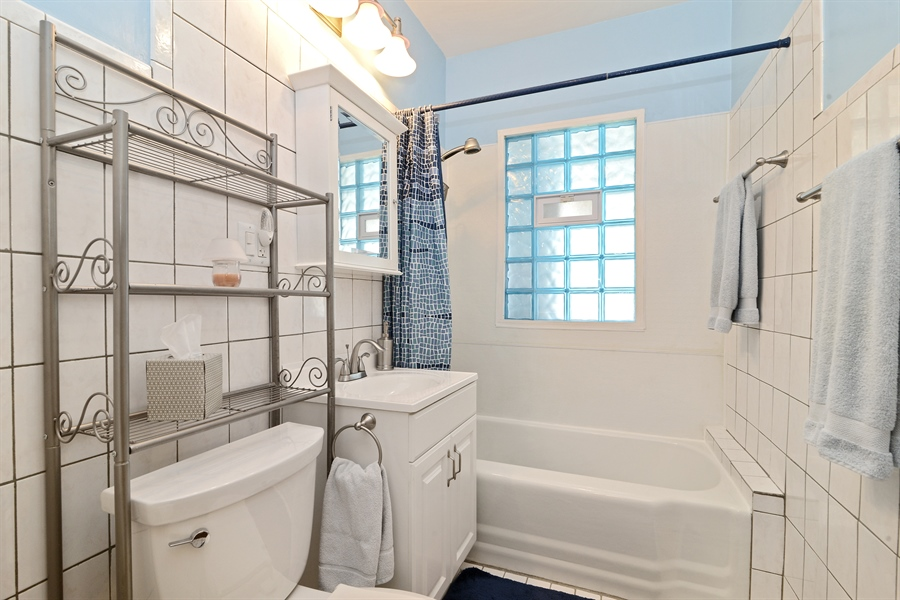 Real Estate Photography - 5531 W Grace St, Chicago, IL, 60641 - Bathroom