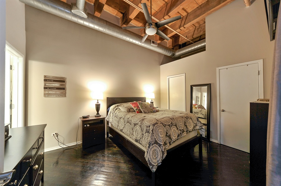 Real Estate Photography - 616 W Fulton, Unit 301, Chicago, IL, 60661 - Master Bedroom