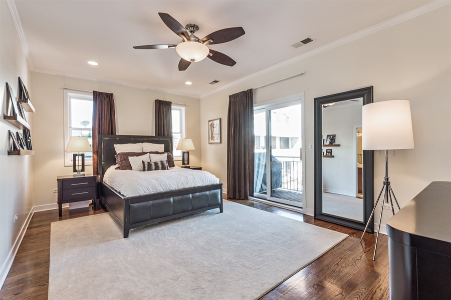Real Estate Photography - 1115 N Hermitage Ave, Unit 2, Chicago, IL, 60622 - Master Bedroom