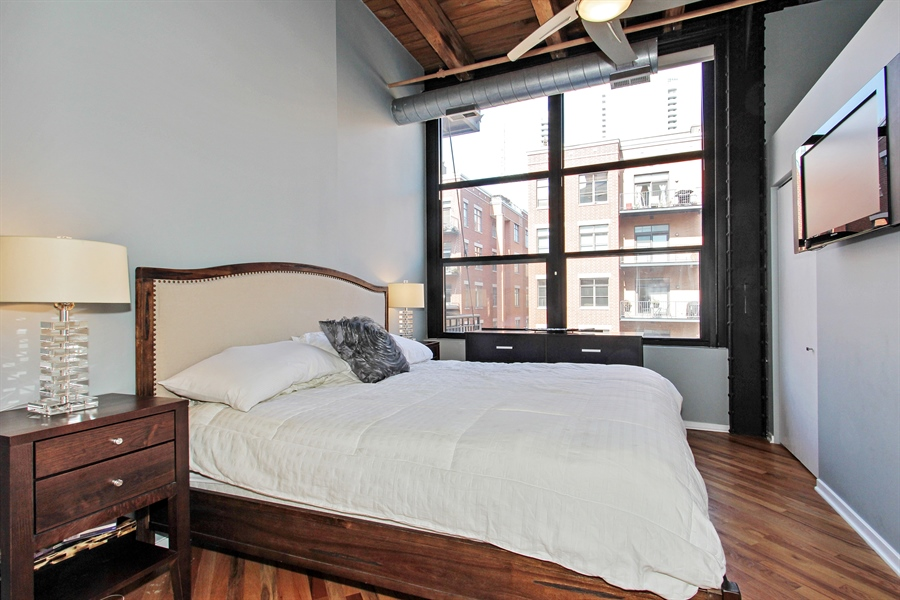 Real Estate Photography - 226 N Clinton, Unit 304, Chicago, IL, 60661 - Master Bedroom
