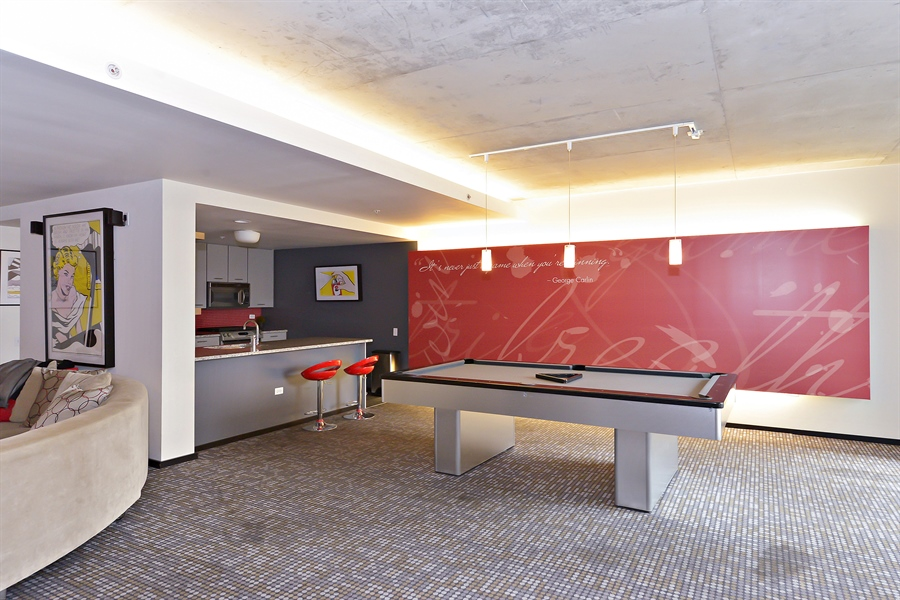 Real Estate Photography - 659 W Randolph, Unit 1215, Chicago, IL, 60661 - Clubhouse