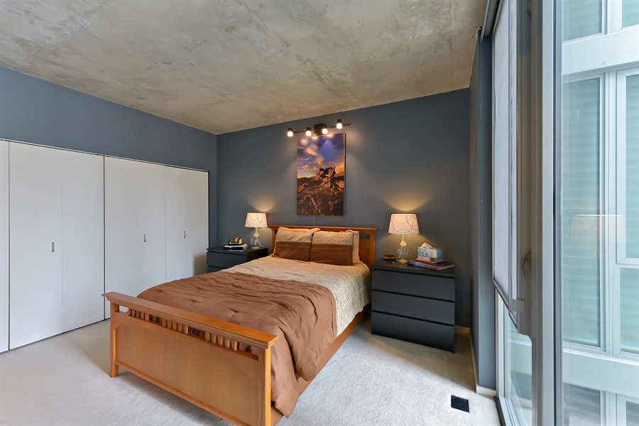 Real Estate Photography - 659 W Randolph, Unit 1215, Chicago, IL, 60661 - Master Bedroom