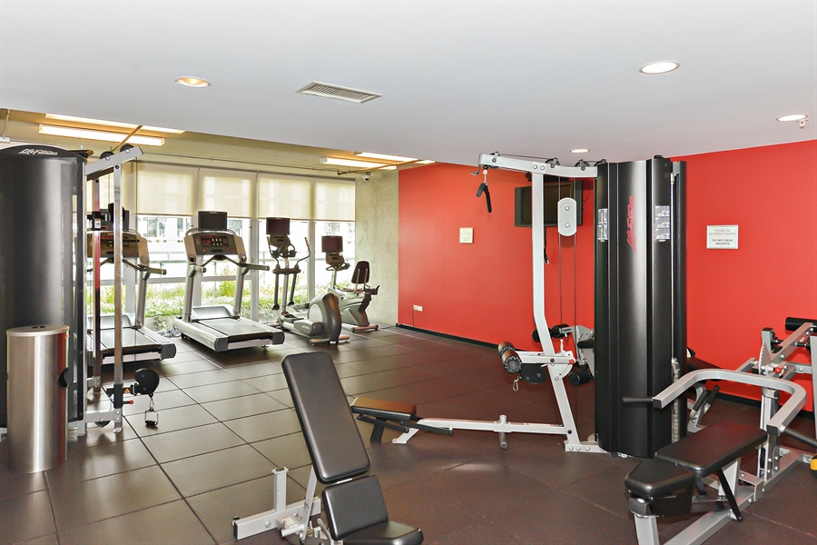 Real Estate Photography - 659 W Randolph, Unit 1215, Chicago, IL, 60661 - Fitness Room