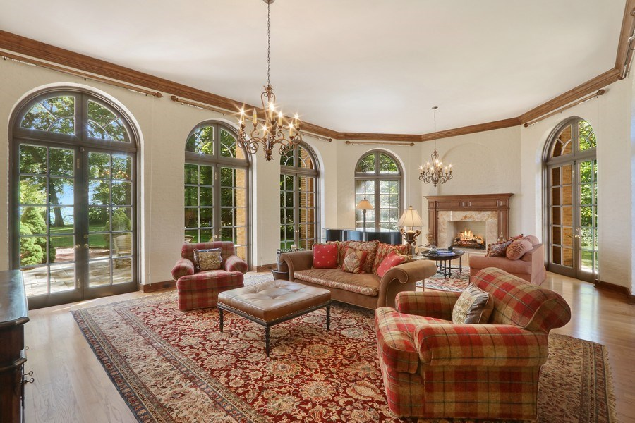 Real Estate Photography - 700 Arbor Drive, Lake Bluff, IL, 60044 - Living Room
