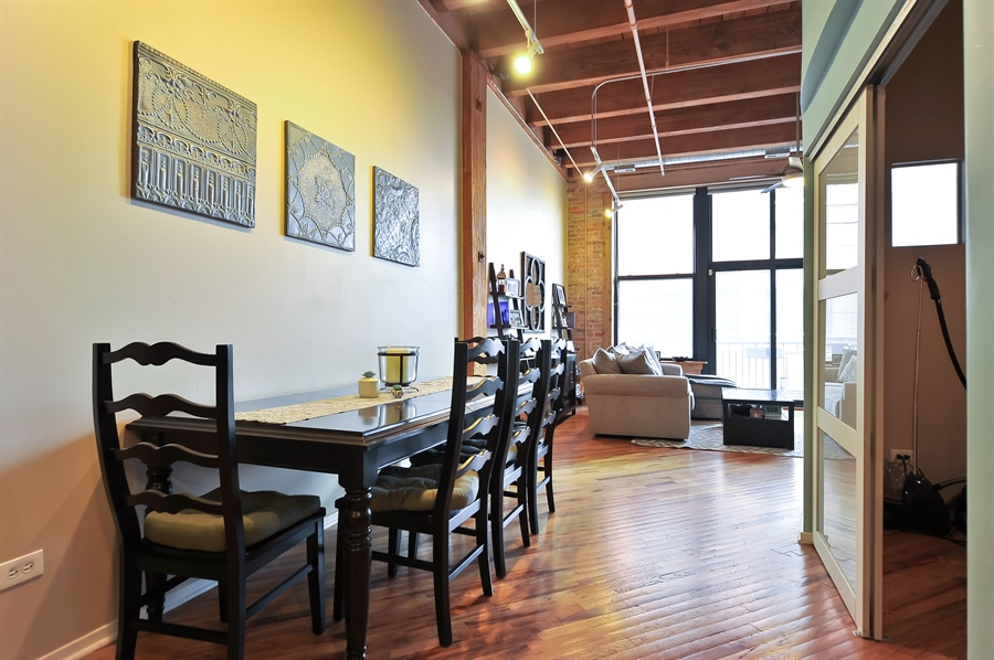 Real Estate Photography - 616 W Fulton, Unit 304, Chicago, IL, 60661 - Dining Room