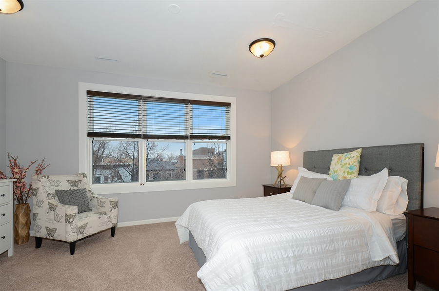 Real Estate Photography - 3645 N Wayne, Unit C, Chicago, IL, 60613 - Master Bedroom