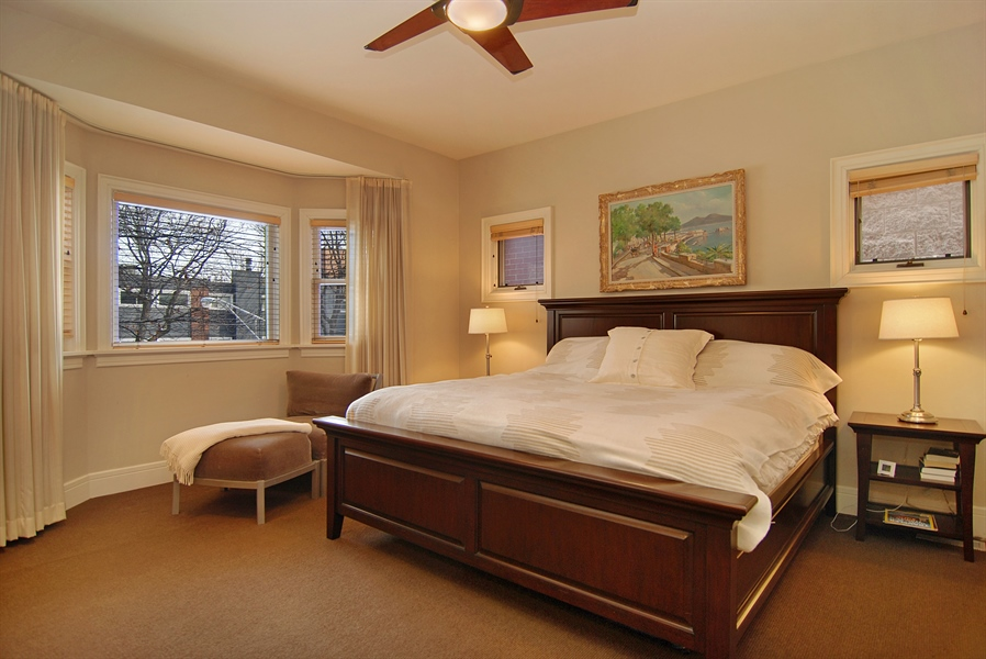 Real Estate Photography - 2136 N Magnolia, Chicago, IL, 60614 - Master Bedroom