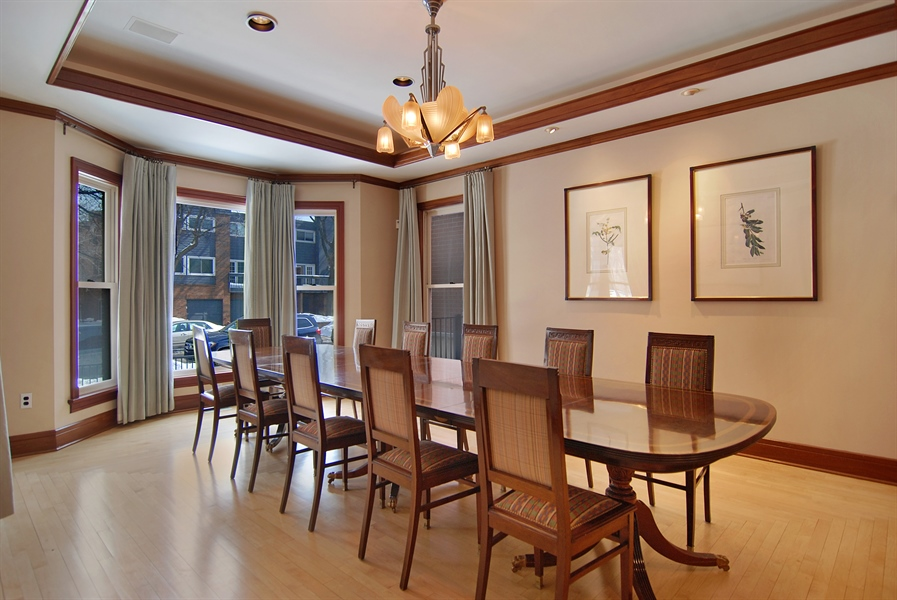 Real Estate Photography - 2136 N Magnolia, Chicago, IL, 60614 - Dining Room