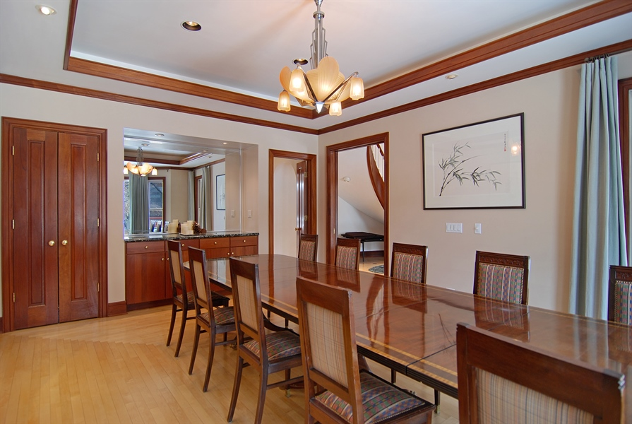 Real Estate Photography - 2136 N Magnolia, Chicago, IL, 60614 - Dining Area